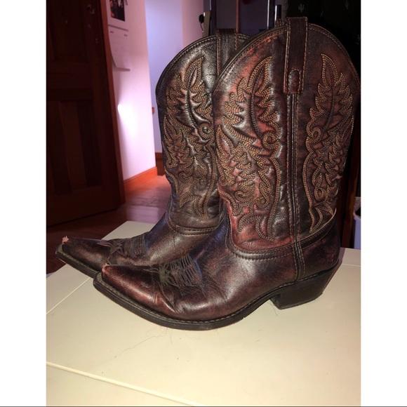 c7d16d7fbb0 Laredo Brand Leather Cowboy Boots